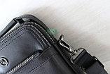 Мужская кожаная сумка барсетка через плечо HT, фото 9