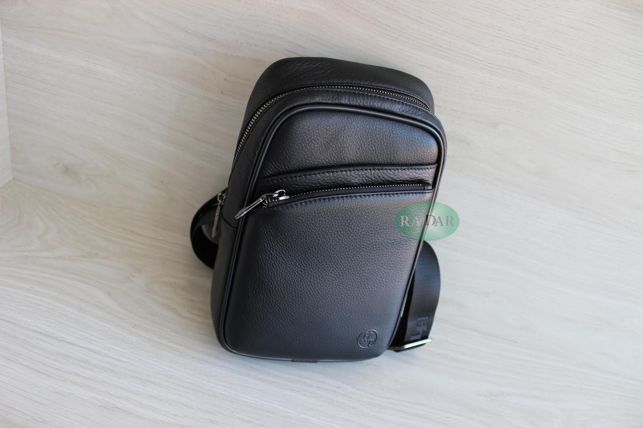 Мужская барсетка, кобура, сумка слинг из натуральной кожи НТ