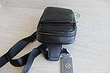 Мужская барсетка, кобура, сумка слинг из натуральной кожи НТ, фото 4