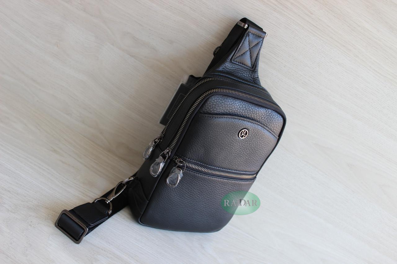 Мужская кожаная барсетка, кобура, сумка слинг НТ