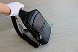 Мужская кожаная барсетка, кобура, сумка слинг НТ, фото 3