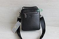 Мужская кожаная сумка барсетка через плечо HT