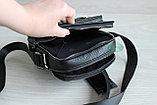 Мужская кожаная барсетка сумка через плечо НТ, фото 7