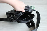 Мужская кожаная барсетка сумка через плечо НТ, фото 8