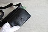 Мужская поясная сумка, барсетка кобура из натуральной кожи, фото 8