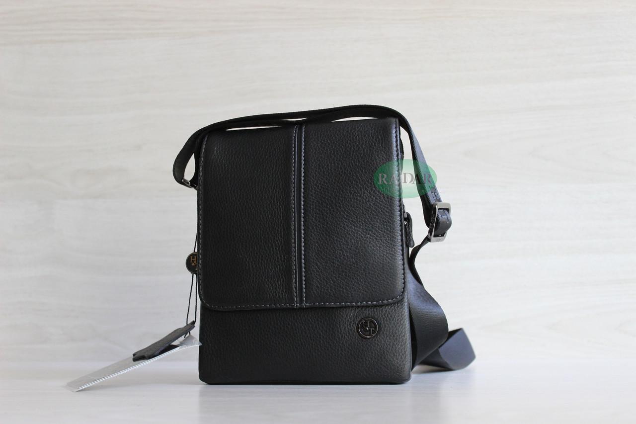Мужская кожаная бизнес сумка, барсетка HT