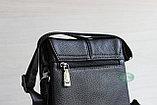 Мужская кожаная бизнес сумка, барсетка HT, фото 8