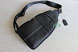 Мужская барсетка, кобура, нарудная сумка из натуральной кожи, фото 6