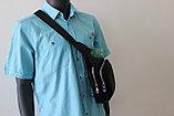 Мужская барсетка, кобура, нарудная сумка из натуральной кожи, фото 8