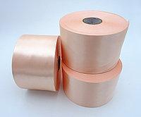 Текстильная сатиновая лента 100мм/200м РОЗОВЫЙ