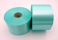 Текстильная сатиновая лента 100мм/200м Морская Волна