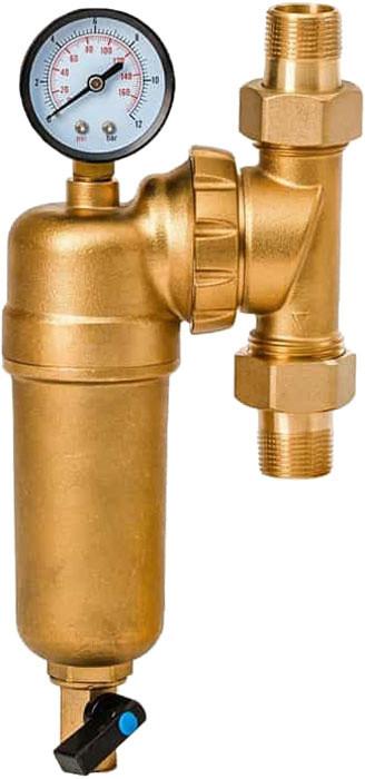"""Фильтр Гейзер Бастион 3\4""""с поворотным механизмом, манометром для холодной и горячей воды"""