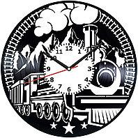 Настенные часы Поезд жд железная дорога, подарок фанатам, любителям, 2073