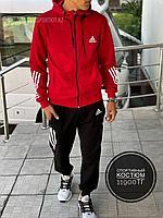 Спортивный костюм Adidas крас 1308-1, фото 1