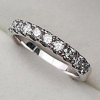 Золотое кольцо с бриллиантами 0.54Сt VS2/H, фото 1