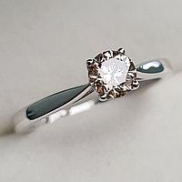 Золотое кольцо с бриллиантами 0.51Сt VVS2/N, VG - Cut, фото 1