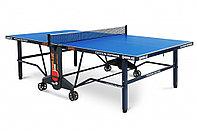 Теннисный стол EDITION Outdoor blue с синей столешницей.