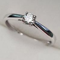 Золотое кольцо с бриллиантами 0.15Сt VS2/I, VG- Cut, фото 1