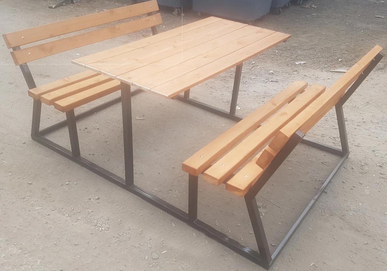Уличные скамейки в комплекте со столом БС-5