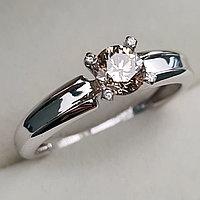 Золотое кольцо с бриллиантами 0.55Сt VVS1/N, G - Cut, фото 1