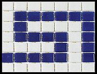 Стеклянная бордюрная мозайка для бассейна Ezzari Cenefa 2545