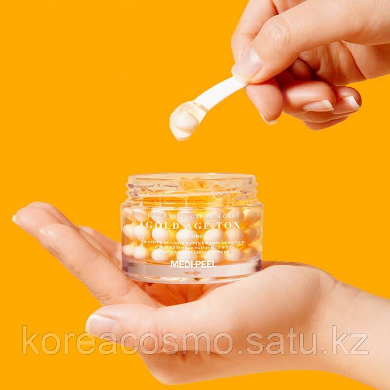 Medi-Peel Gold Age Tox Cream 50 мл. Антивозрастной капсульный крем с экстрактом золотого шелкопряда