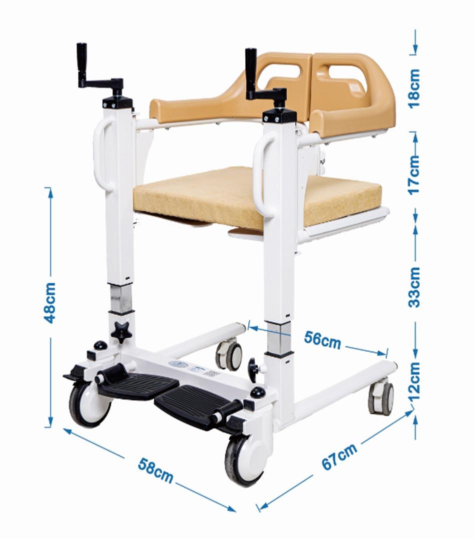 Кресло для инвалидов, новая модель, многофункциональное. Удобно для перевозки в санитарный узел.