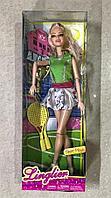Кукла Linglior спортивная с ракетками и кубком