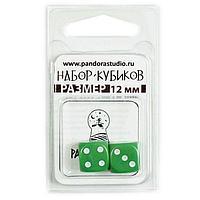 """Набор кубиков """"Симпл"""", 2шт, 12мм,зеленый"""
