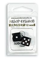 """Набор кубиков """"Симпл"""", 2шт, 12мм, черный"""