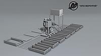 Линия для производства неавтоклавного газоблока стационарного типа МРК-10СТ производительностью 10м3 в сутки.
