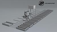 Линия для производства неавтоклавного газоблока стационарного типа МРК-15СТ производительностью 15м3 в сутки.