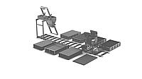Линия для производства неавтоклавного газоблока стационарного типа МРК-5СТ/СП производительностью 5м3 в сутки.