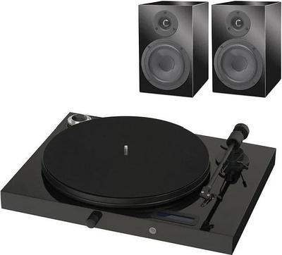 Проигрыватель виниловых пластинок Pro-Ject Juke Box E + Акустическая система Speaker Box 5, Black