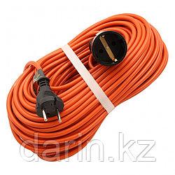 Удлинитель-шнур силовой 30 м, 6А, тип УХз6, ПВС, 1 розетка без заземления Сибртех