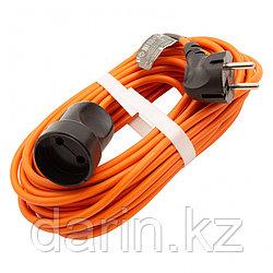 Удлинитель-шнур силовой 10 м, 16А, тип УХ16, ПВС, 1 розетка без заземления Сибртех