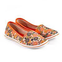 Слипоны женские, цвет оранжевый, размер 38