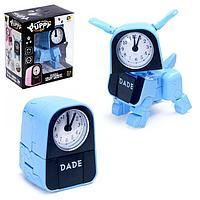Робот-часы 'Щенок', трансформируется в будильник, работает от батареек