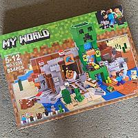 Лего маин крафт. В комплекте 834 детали.
