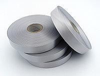 Текстильная сатиновая лента 25мм/200м СЕРЕБРО