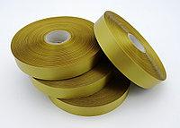 Текстильная сатиновая лента 25мм/200м ЗОЛОТО