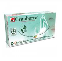 Перчатки СМОТРОВЫЕ Cranberry Cyntek лат. неопудр, текст, с ланол. и вит Е с аром. цитрус-мята р.S |C