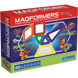 Magformers Магнитный конструктор Набор Designer Set из 62 элементов