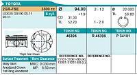 Поршень комплект Toyota-Lexus 2GR-FSE 3.5 24v 06- size STD