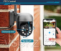 W-iFi   Камера уличная PTZ IP видеонаблюдения Full HD 1080P, беспроводная камера, сигнализация, ночная камера
