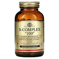 Solgar, комплекс витаминов группы B «100», 100 вегетарианских капсул