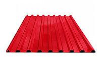 Профнастил С8 - стеновой профилированный лист Красный