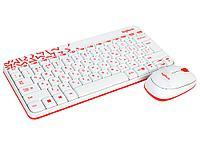 Комплект беспроводной Logitech MK240 Nano White/Red