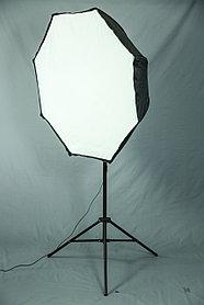 2 зонта-октобокса 80 см на стойках с головками под вспышки