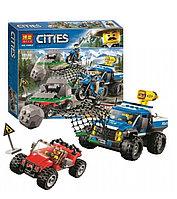 Конструктор BELA Cities 10862 Погоня по грунтовой дороге 315 деталей(Аналог LEGO City 60172)